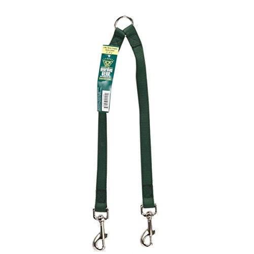 - Guardian Gear Nylon 2-Way Medium Dog Coupler with Nickel Plated Swivel Clip, 12-Inch, Hunter Green