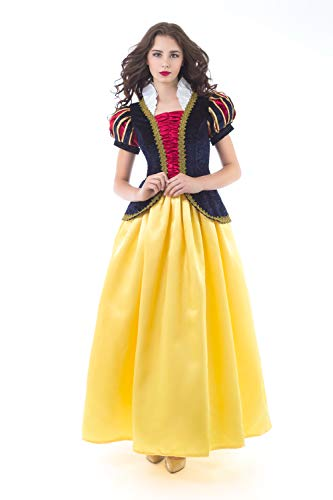 Little Adventures Deluxe Snow White Dress-Up Costume for Adult Women (Small 2-4) -