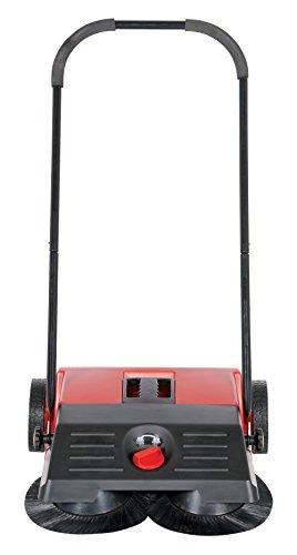 Vestil JAN-SM Manual Push Floor Sweeper with Steel Handle, 21-1/4'' Head Width, 24'' Overall Length, Black and Red by Vestil (Image #2)