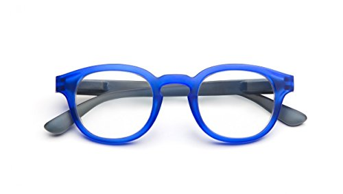 B+D Blue Ban Reader Matt Blue +1.00 Eyeglasses 2280-57-10