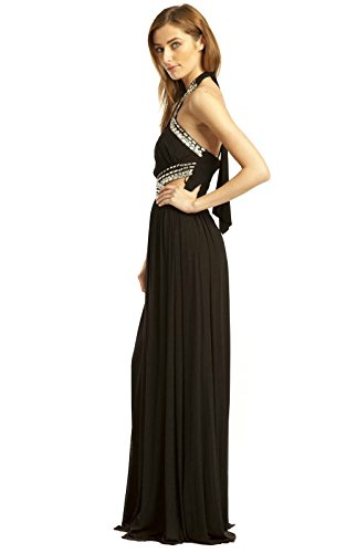 Polly Womens Kleid Black Abend IKRUSH Maxi av5dqaw