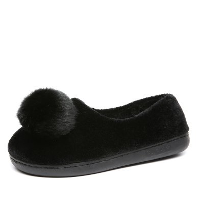 LaxBa Donna Uomo Indoor pattino antiscivolo pantofole Nero 36