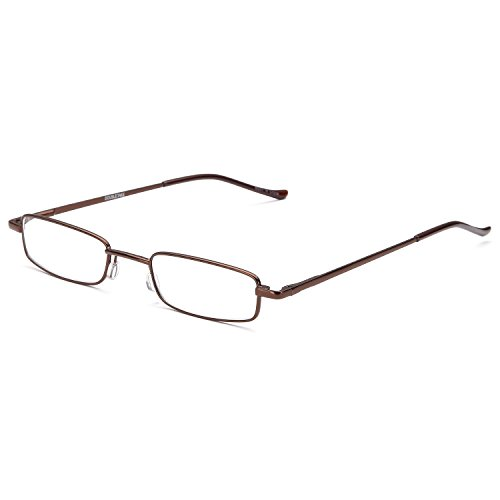 DoubleTake 2 Pairs of Classic Readers in Slim Pen Clip Portable Hard Case Reading Glasses +2.00