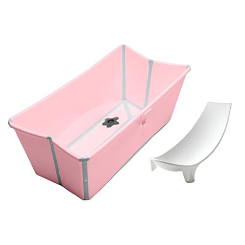 Stokke Flexi Bath in Pink with Newborn Support by Stokke