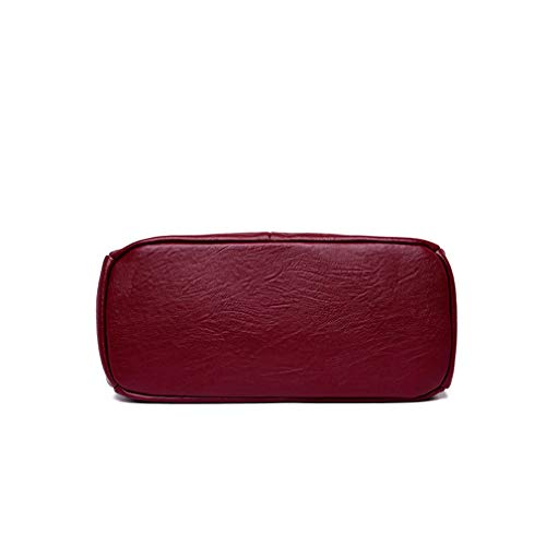 Knitting WineRed 22cm 14cm 30cm Dark blue Bag Messenger Handle rq7pwfFr