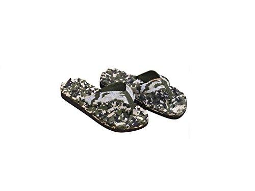 DESIGN FREUNDE Herren Flip Flops Hafenstyler von DF Camouflage Zehentrenner Männerflipflops Flipflops Schuhe Herrenschuhe Latschen Herrenlatschen Zehentrenner Herrenschuhe Hausschuhe