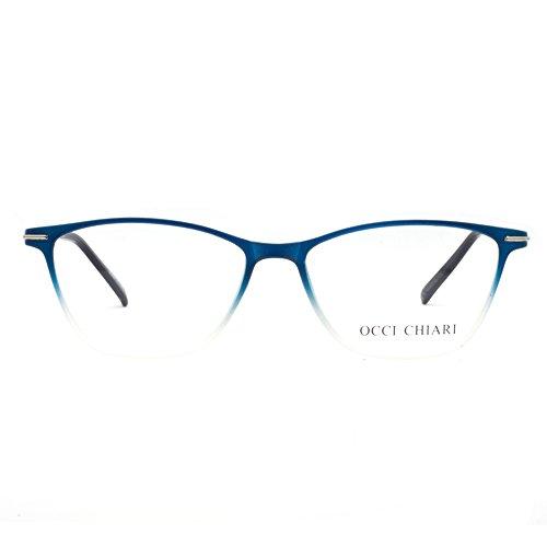 Eyewear Frames-OCCI CHIARI-Rectangular Eyeglasses Frame with Clear - Glasses Prescription Women
