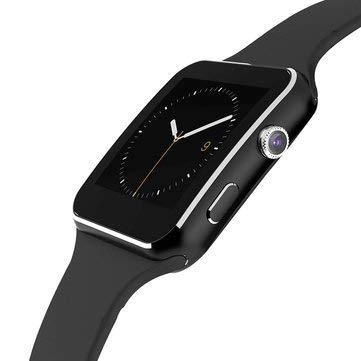 HelloPet X6 Curved Screen Smart Watch Intelligent Plug-in Card Internet Bluetooth Photograph Telephone Smart Watch (Black)