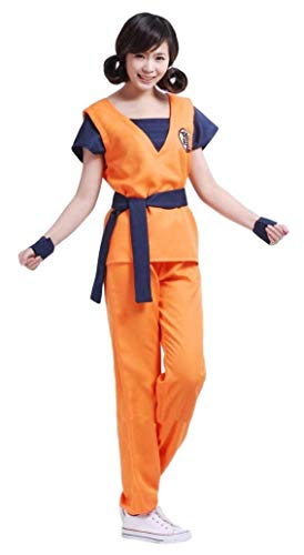 SSJ Dragon Ball Son Goku Style [M L XL] Anime Cosplay Costume (XL, Turtle Mark) -