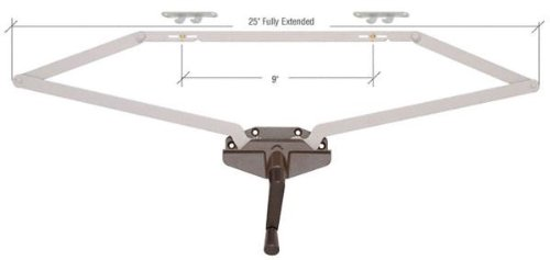 CRL Awning Window Operator, Dual Pull, Roto-Gear, Bronze, 25 ...