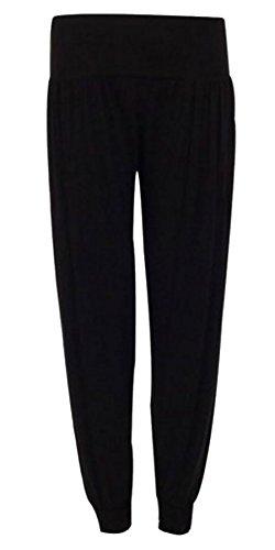 Elasticizzato larghi Vita Donna Fashions Pantaloni 58 Black Full Pantalone Womens IT Baba Length 40 Harem Islander Ali 7vwx1z41q