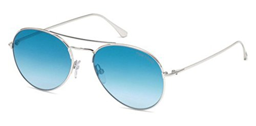 Sunglasses Tom Ford ACE- 02 TF 551 FT 18X shiny rhodium / blu - Ford Ace Tom