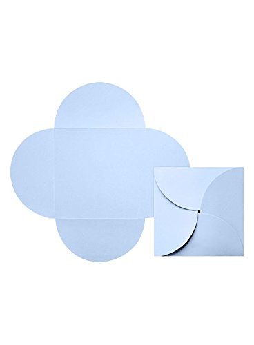 6 1/4 x 6 1/4 Petal Invitations - Baby Blue (220 Qty.)