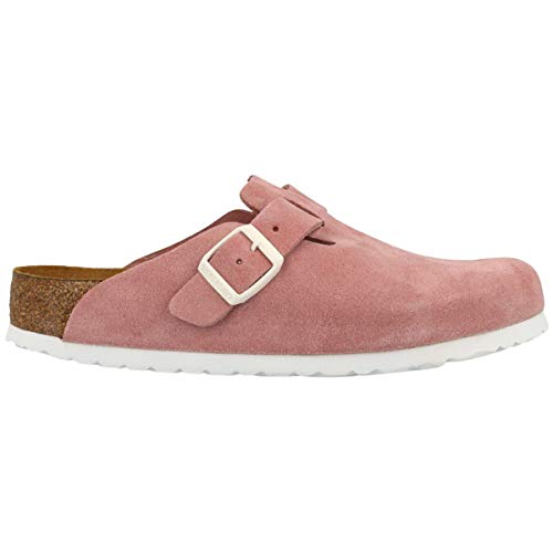 Birkenstock Unisex Boston Soft Footbed Suede Rose Sandals 8 W / 6 M US