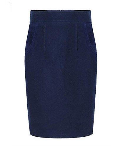 GDS Mujer Tallas Grandes Faldas,Corte Bodycon Un Color Separado ...