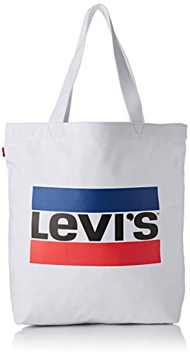 Levi's Sportswear Logo Tote W, Canvas and Beach Bag, White (Noir Regular White)