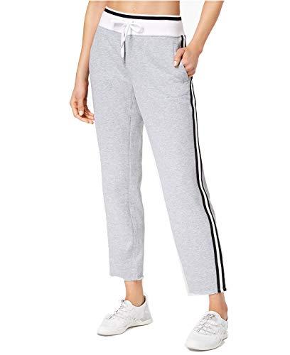 (Calvin Klein Women's Performance Terry Striped Ankle Sweatpants)