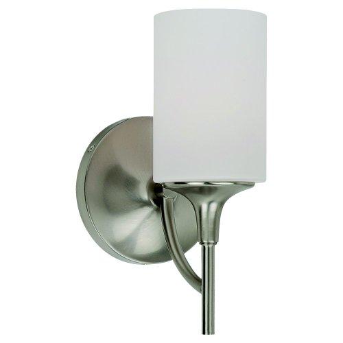 Sea Gull Lighting 44952-962 Stirling One-Light Wall / Bath Vanity Style Lights, Brushed ()