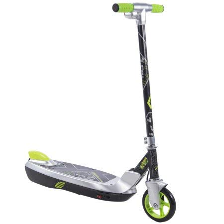 Rear Electric Scooter - Sturdy, Tough and Smooth to Ride Huffy Electric Green Machine 12 Volt Battery-Powered Scooter With Rear Foot Brake, Easy to Fold for Storage,a Thrilling Gift for Kids