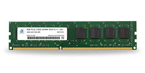 Adamanta 8GB (1x8GB) Desktop Memory Upgrade DDR3/DDR3L 1600MHz PC3L-12800 Unbuffered Non-ECC UDIMM 2Rx8 1.35v CL11 DRAM RAM