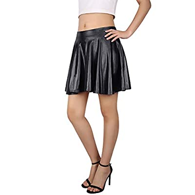 HDE Women's Casual Fashion Flared Pleated A-Line Circle Skater Skirt at Women's Clothing store