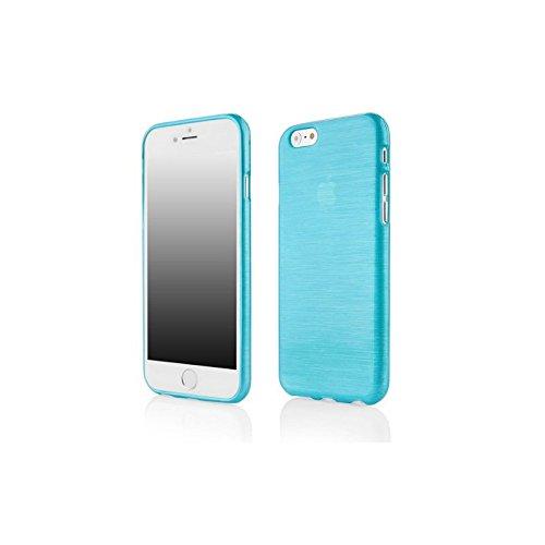 Coque2mobile ® Silikon TPU Hülle Etui Tasche Gel Case Hülle Cover für Apple iPhone 6 (11,9 cm 4,7 Zoll), Metallic Blue