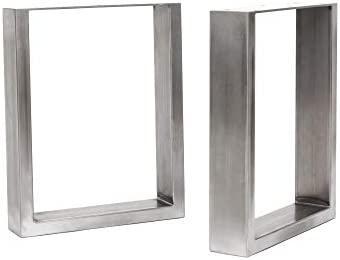 HLC gu/ía de construcci/ón y protectores de suelo 2 x patas industriales de mesa con marco en V: acero acondicionado de superficie Mesa Grande, Acero soldadura TIG con tornillos GRATUITOS