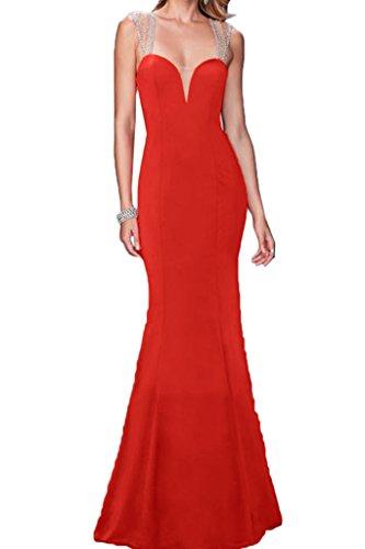 ivyd ressing Mujer favorita trager con piedras rueckenfrei funda de línea vestido de fiesta Prom vestido fijo para vestido de noche Rojo