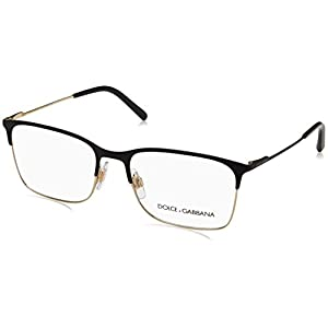 Dolce & Gabbana Men's DG1289 Eyeglasses Matte Black/Pale Gold 54mm