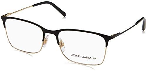 Dolce & Gabbana Men's DG1289 Eyeglasses Matte Black/Pale Gold 54mm
