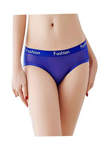 Justgoo Women's Sexy Sheer Panties Thongs Mesh G-Strings Hipster Underwear (G-string Sheer)