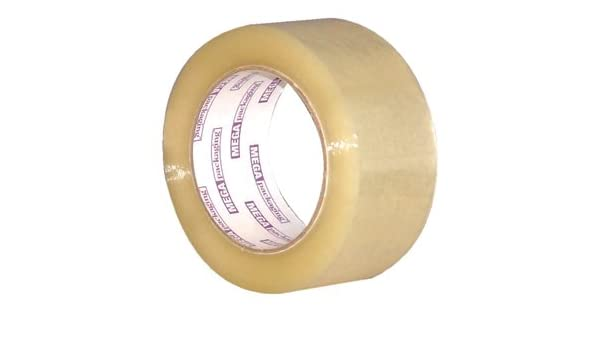 """6 Rolls Carton Sealing Clear Packing Shipping Box Tape 2/"""" x 110yds Made in USA"""