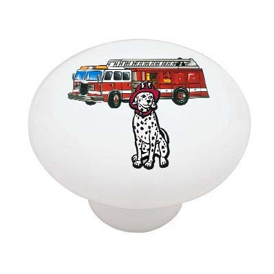 firedog-and-fire-truck-decorative-high-gloss-ceramic-drawer-knob