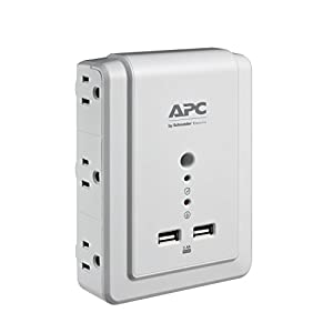 APC 6-Outlet Wall Surge Protector with USB Charging Ports, SurgeArrest Essential (P6WU2)