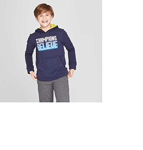 C9 Champion Boys' Graphic Tech Fleece Pullover Hoodie Champions Believe Size X-Large
