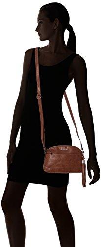 Tamaris Melanie Crossbody Bag - Bolsos bandolera Mujer Marrón (Cognac)