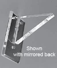 Clear Back Flush Top No Lip Acrylic Shelf Support - 6 in - Pair