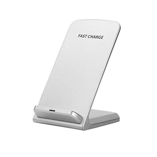 Elaco Wireless Charger,3-Coils Charge Qi Wireless Charging Stand Dock Samsung Note9 (White)