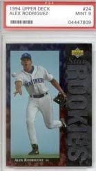 (1994 Alex Rodriguez Upper Deck Baseball MLB Rookie Cards - Professionally Graded a PSA 9 (New York Yankees))