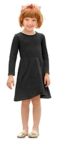 City Threads Girls Super Soft Cotton Long Sleeve Thremal Dress Made in USA
