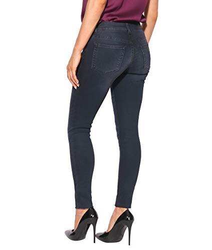 Moda 2811 Pantalones Vaqueros Mujer Pitillo Krisp Carbón anqISASf