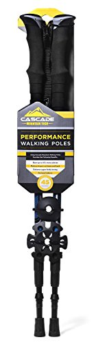 Cascade Mountain Tech Trekking Poles for Trail Hiking Walking Climbing 2 Pack
