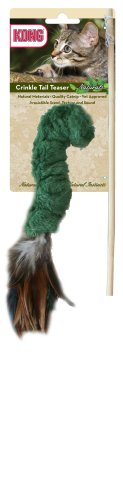 KONG Naturals Crinkle Tail Teaser Cat Toy (Colors ()