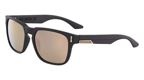 - Sunglasses DRAGON DR 513 SI MONARCH ION 008 MATTE BLACK WITH ROSE GOLD LENS