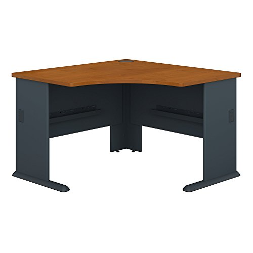 Series Corner Workstation - Bush Business Furniture Series A 48W Corner Desk in Natural Cherry and Slate