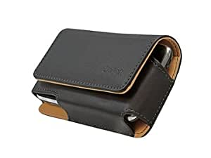 Bloutina Cellet Nobel Size 4 Regular Horizontal Leather Case Pouch w/ Removable Belt Clip for Huawei 4Afrika - Black