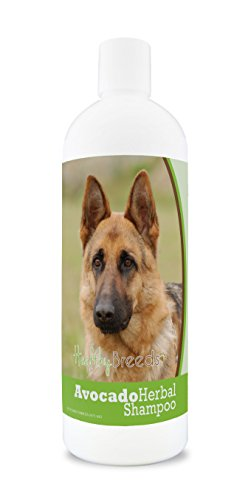 Healthy Breeds Herbal Avocado Dog Shampoo for Dry Itchy Skin for German Shepherd, Brown  - OVER 200 BREEDS - For Dogs with Allergies or Sensitive Skin - 16 oz