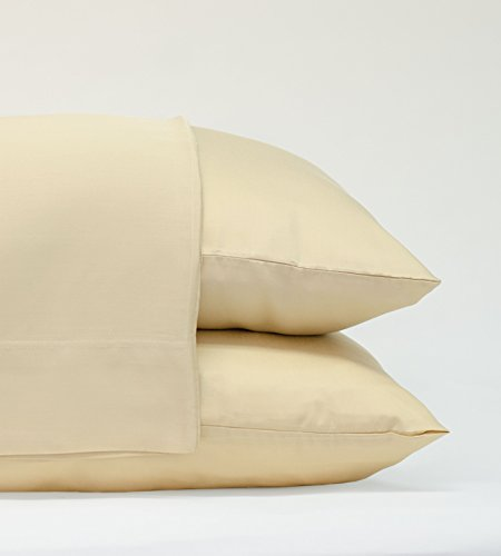 Pillow Bamboo Classic (Cariloha Classic Bamboo Pillow Cases by 2 Piece Pillowcase Set - Softest Pillow Cases - 100% Viscose from Bamboo (Standard, Ivory))