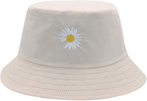 LEIDAI Niedlicher Eimer Hut Strand Fischerhüte für Frauen, Reversible Doppelseitenabnutzung (Schwarz#2, Baumwolle)