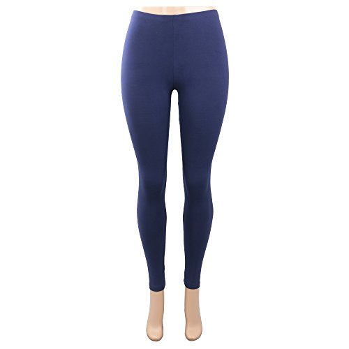 Pop Fashion Deals, Women Brightly Colored Printed Leggings Footless Tights Ankle Pants (Navy)